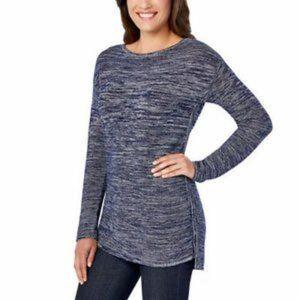 Ellen Tracy Pullover Sweater heather navy M